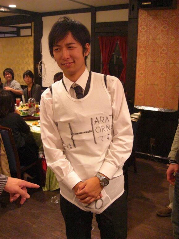 ユニフォームを着たタケハラ