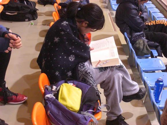 試験の勉強をするむっちゃん