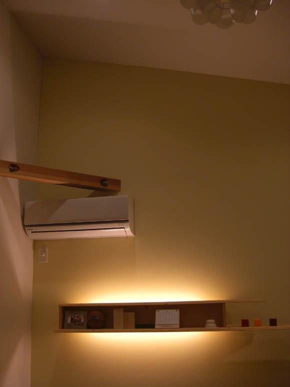 二階リビングの壁