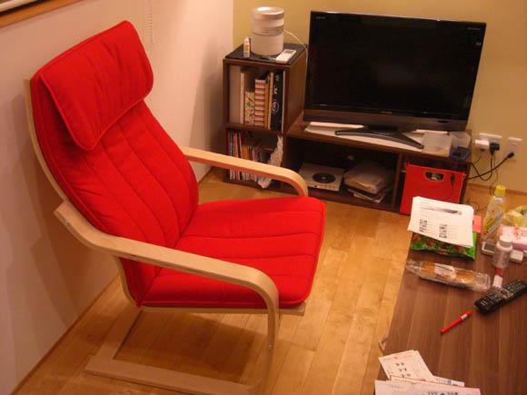 真っ赤な椅子