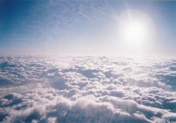 目の前に広がる雲海